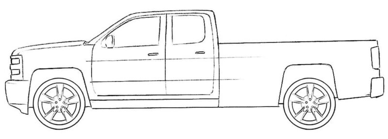 Easy Truck Coloring Page Coloringpagez Com