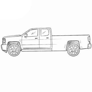 Easy Truck Coloring Page | Coloringpagez.com