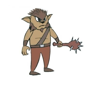 Easy Bugbear Coloring Page
