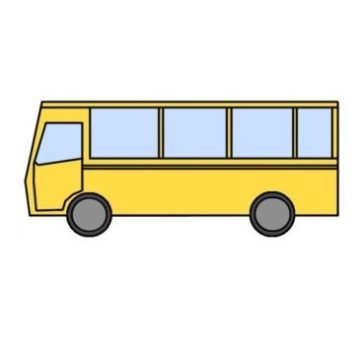 easy bus coloring page printable
