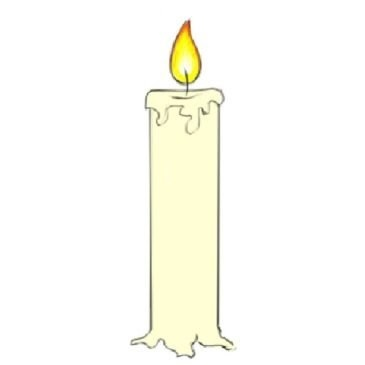 Easy Candle Coloring Page