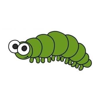 Easy Caterpillar Coloring Page
