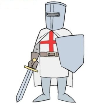 easy crusader coloring page printable