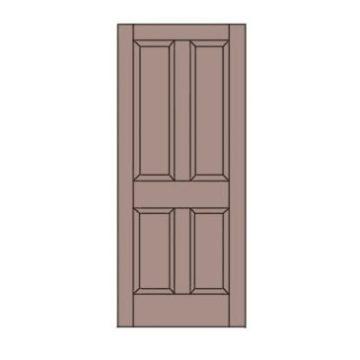 easy door coloring page printable