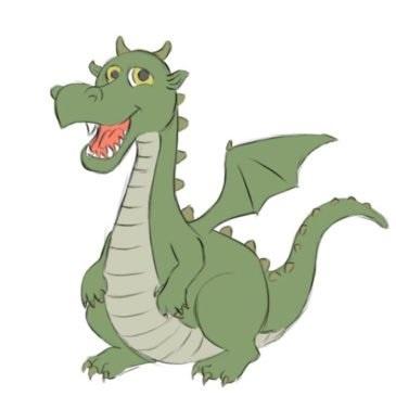 Easy Dragon Coloring Page