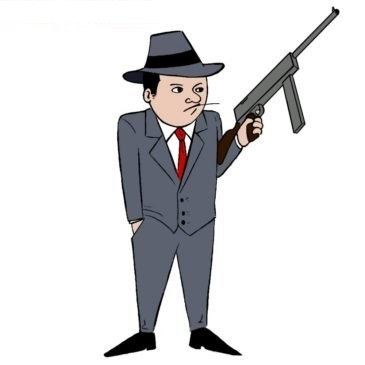 Easy Gangster Coloring Page