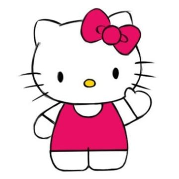 easy hello kitty coloring page printable