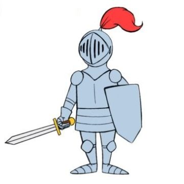easy knight coloring page printable