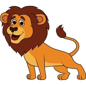 Easy Lion Coloring Page