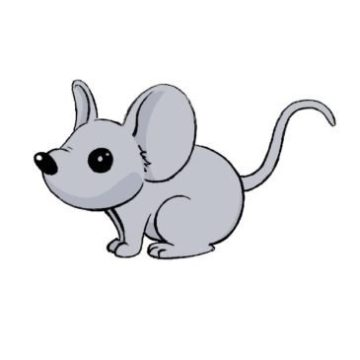 easy mouse coloring page printable