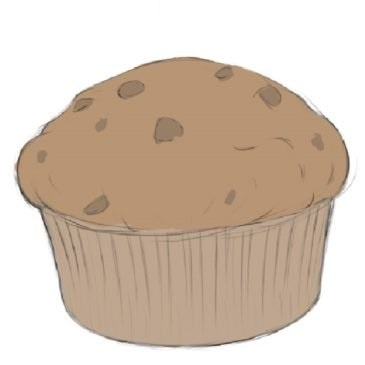 Easy Muffin Coloring Page