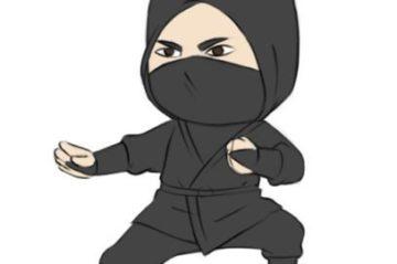 easy ninja coloring page printable