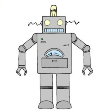 easy robot coloring page printable