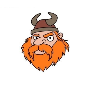 Easy Viking Face Coloring Page