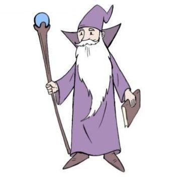 easy wizard coloring page printable