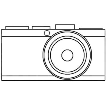 Camera Easy Coloring Page