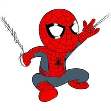 Easy Spider-Man Coloring Page