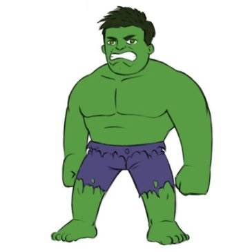 Easy Hulk Coloring Page