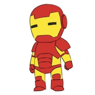 Easy Iron Man Coloring Page