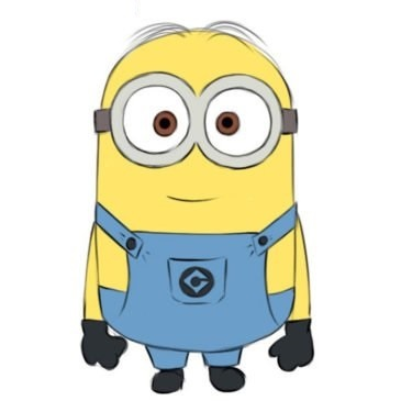 Easy Minion Coloring Page