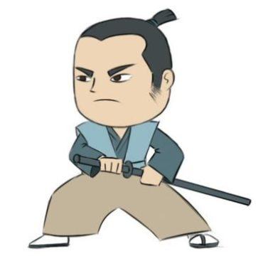 easy samurai coloring page printable