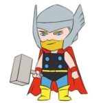 Easy Thor Coloring Page