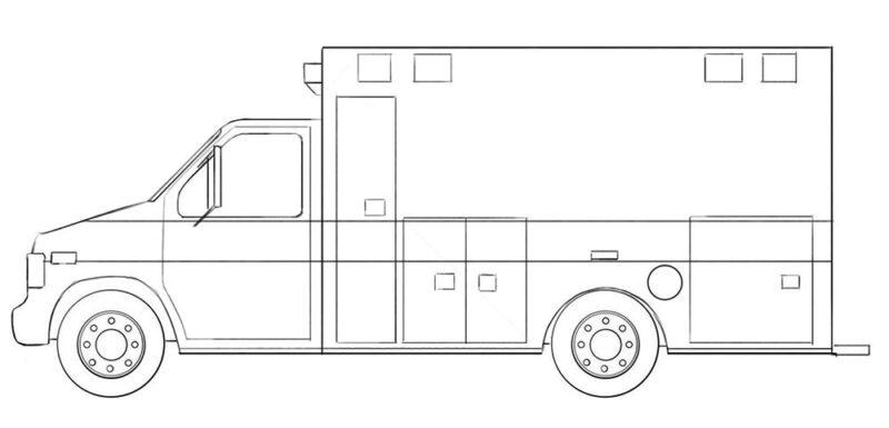 Ambulance car coloring page