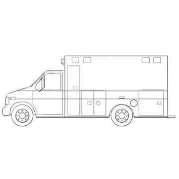 Ambulance car coloring pages