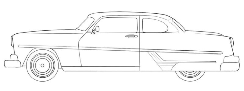 Antique Car coloring page