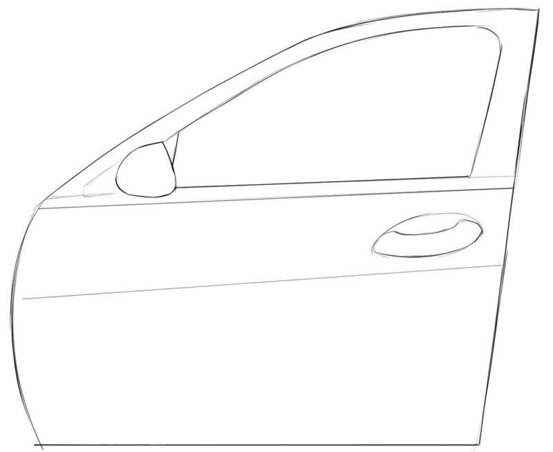 Car Door coloring page