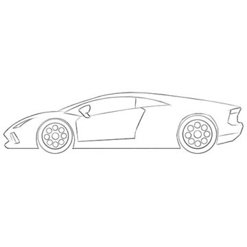 Cartoon Lambo Coloring Pages