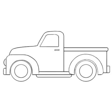 Cartoon Truck Coloring Pages