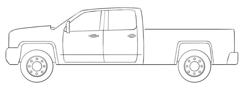 Easy Truck Coloring Page
