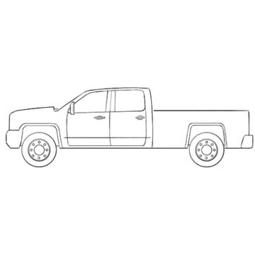 Easy Truck Coloring Pages