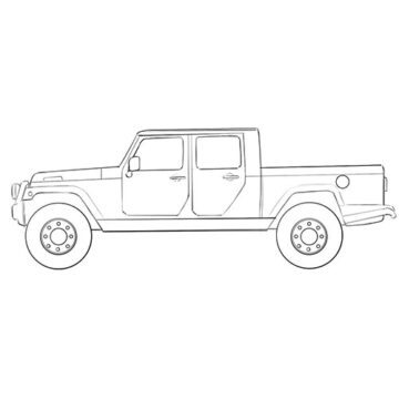 Jeep Truck coloring pages