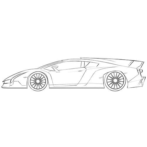 Lamborghini Veneno Coloring Page