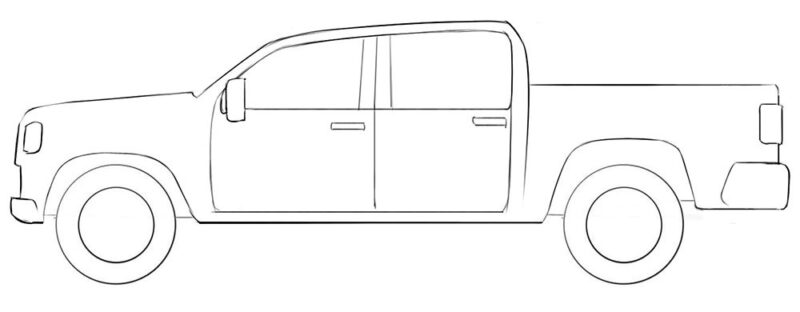 Simple Truck Coloring Page