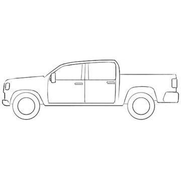 Simple Truck Coloring Pages
