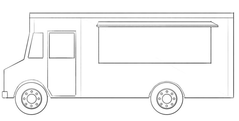 Taco Truck coloring Page