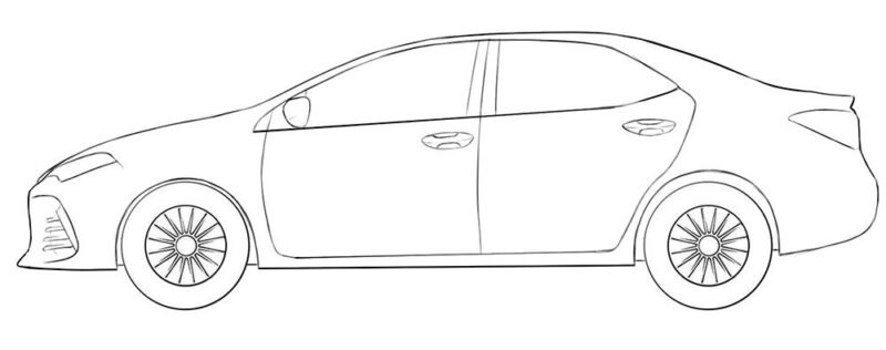 Toyota Corolla Coloring Page