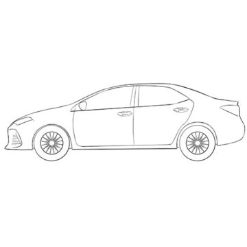 Toyota Corolla Coloring Pages