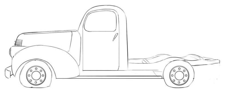 abandoned truck coloring page