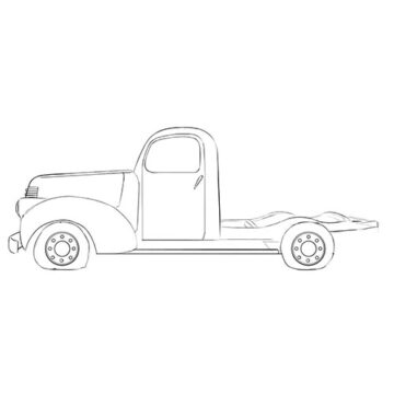 abandoned truck coloring pages