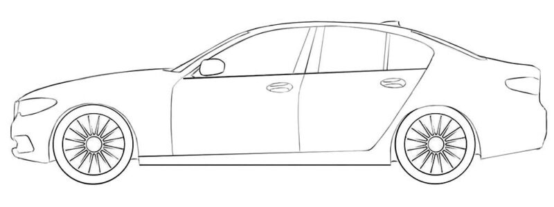 bmw car coloring page