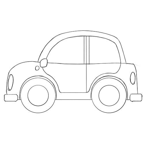 Cartoon Car Coloring Page