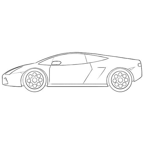 Cartoon Lamborghini Coloring Page