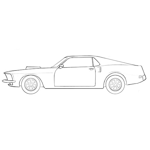 Classic Car Coloring Page