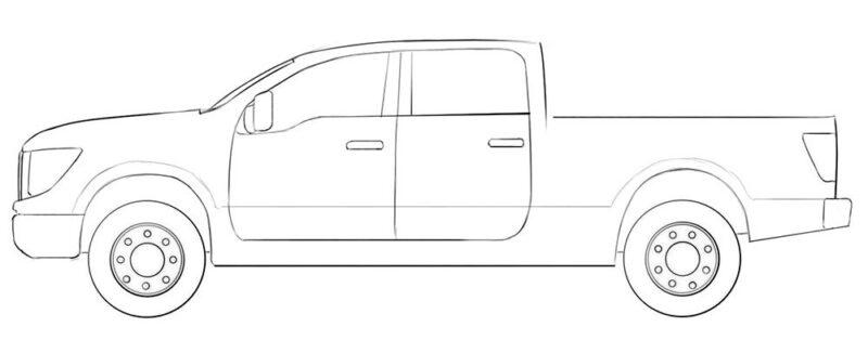diesel truck coloring page