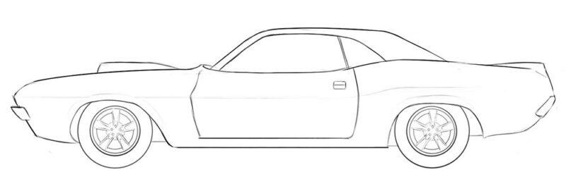 drag car coloring page