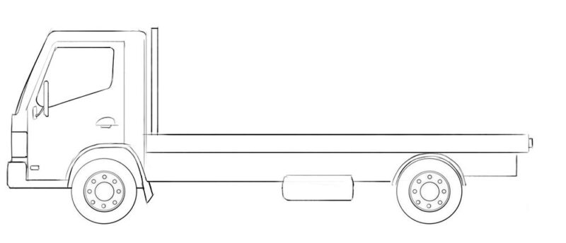 flatbed truck coloring page